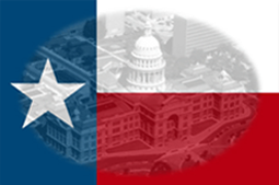 This is a picture of the Texas Capital and a Texas Flag that symbolizes TexasLawyers.com Legal Directory and Information Center.